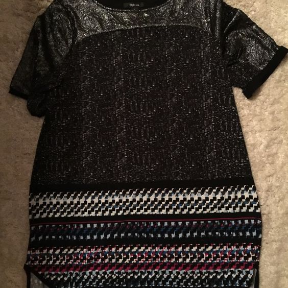 Style and co tunic Super cute tunic, great with leggings and vey comfortable! Worn 1 or 2 times, like new. 95% polyester 5% spandex Style & Co Tops Tunics