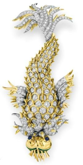 """""""The Night of the Iguana"""" brooch  Jean Schlumberger for Tiffany & Co., 1964  Elizabeth Taylor, Christie's"""