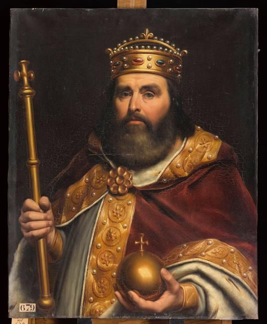 Charles Iii Le Gros : charles, Charles, Kunst, Gemälde,, Donaueschingen,, Königshaus
