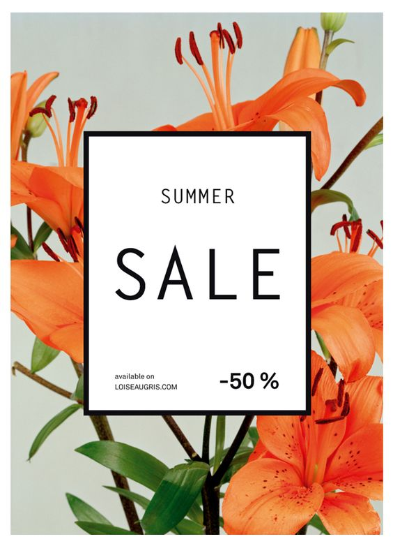 Sale poster- easy to read. I like the thin typeface, the image that frames the poster. Maybe 'too bold in the centre' with the white being too solid.