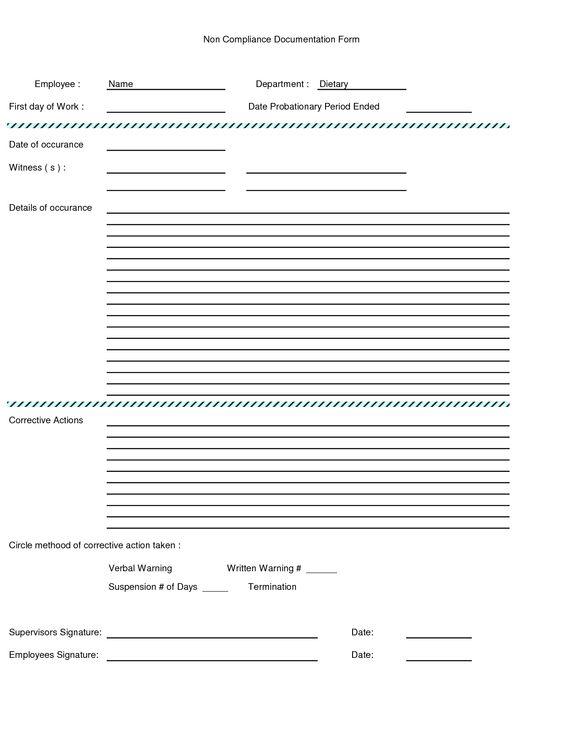 written warning form   Employee Written Warning Form - Excel ...