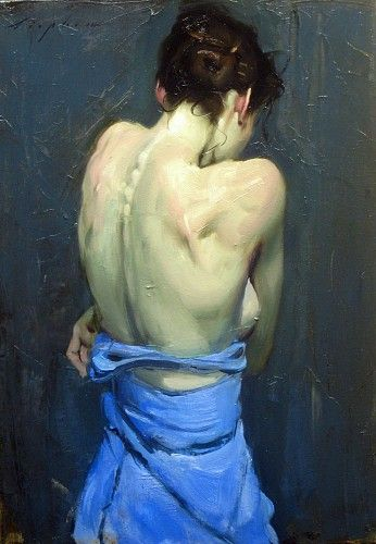 Malcolm T Liepke - Contemporary Artist - Figurative Painting - Woman's Back 2014