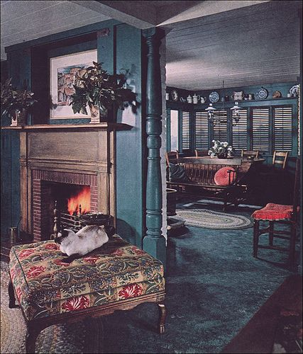 American Colonial Interiors: 1952 Color For Colonial Interior, #4 By American Vintage