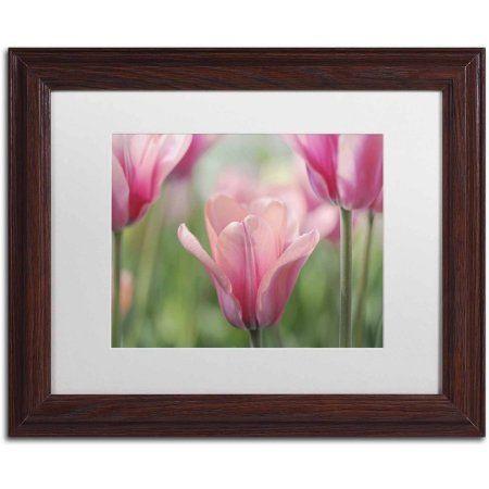 Trademark Fine Art 'Tulip Mirella' Canvas Art by Cora Niele, White Matte, Wood Frame, Size: 11 x 14, Multicolor