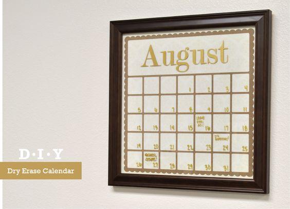 Silhouette Blog: FREE Shape of the week - DIY Dry Erase Calendar