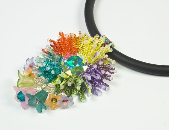 Kette, Halskette, Anhänger, bunt von kreativrausch-kiel auf DaWanda.com