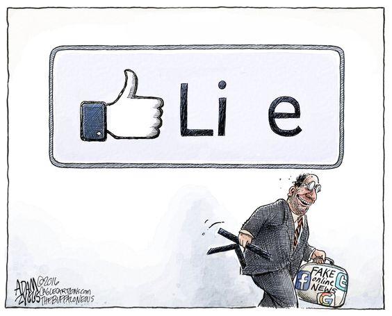 Image result for fake news satire cartoons