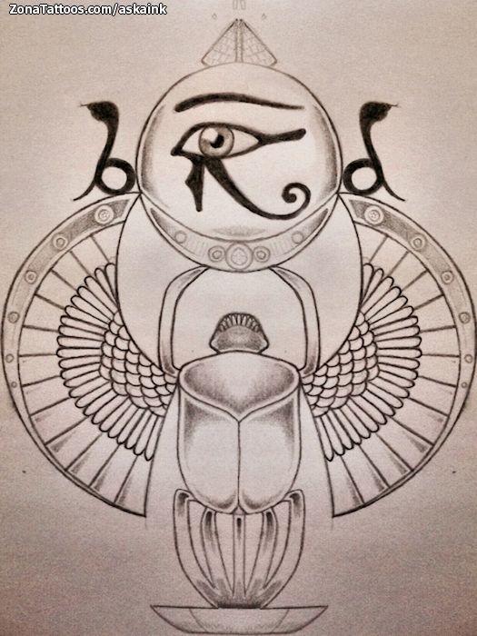 Diseño De Egipcios Ojo De Horus Escarabajos Zonatattoos Com Escarabajo Egipcio Tatuaje Tatuaje De Escarabajo Escarabajo Egipcio