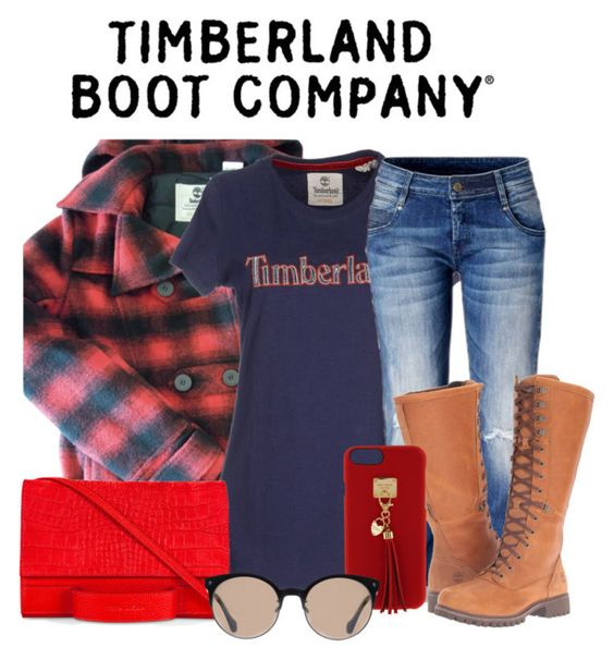 """""""Untitled #699"""" by the-luxurious-glam ❤ liked on Polyvore featuring Timberland Boot Company, Timberland, Esin Akan, Henri Bendel and Balenciaga"""