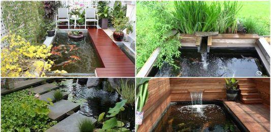 15 ไอเด ย การสร างบ อเล ยงปลาในสวน เล ยนแบบธรรมชาต เสร มเสน ห สวนสวยสมบ รณ Pond Design Koi Pond Design Koi Pond