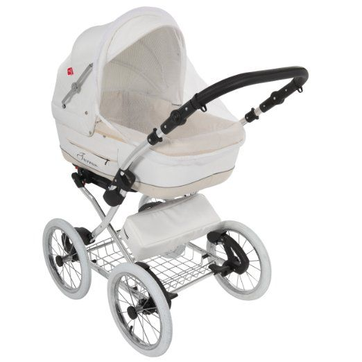 True Love Classic One Plus Kinderwagen Eco Leder (Autositz & Adapter, Regenschutz, Moskitonetz, Speichenluftreifen) 01 Eco White: Amazon.de: Baby