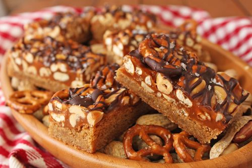 Sweet and Salty Pretzel & Peanut Superbars - pretzel recipes curated by SavingStar Grocery Coupons. Save money on your groceries at SavingStar.com