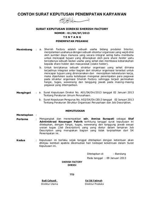 Contoh Surat Keputusan Organisasi Osis Contoh Surat