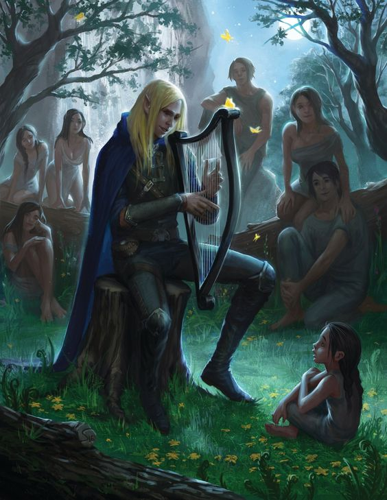 Finrod Felagund sings for the mortals (that's my bae)<<this is one of my favorite stories, and I think this is the best depiction I've seen of it: