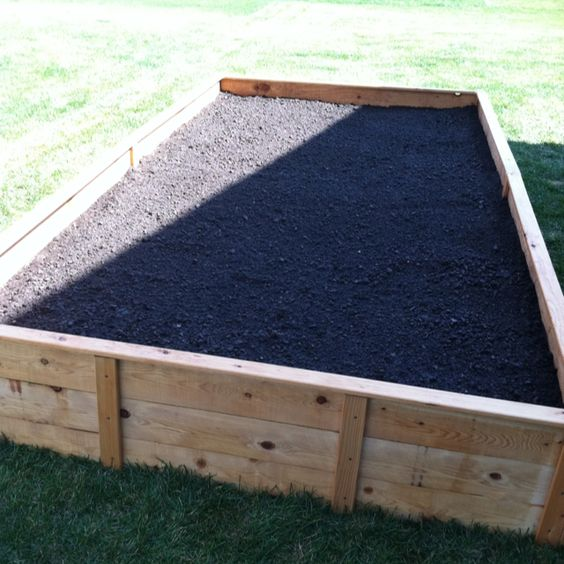 Above ground garden bed Cant do it any other way with all the