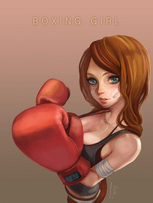 boxing girl by Joysuke on DeviantArt