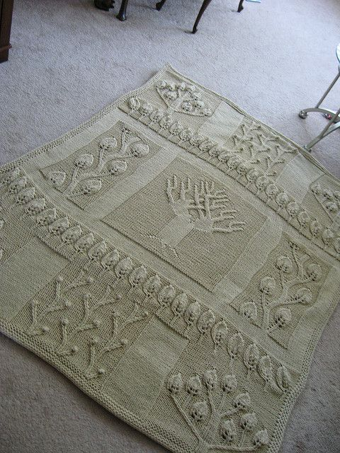 Tree Of Life Knitting Pattern Afghan : Trees, A well and Tree of life on Pinterest