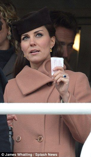 ...Kate keeps an eye on the race and a tight grip on her betting slip ... March 2013...little grape umm princess grace, i surely am just venturin'