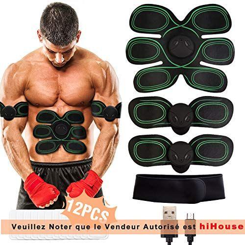 FR Abdominale Musculation Hanche Entraîneur Muscle Électrostimulation Ceinture