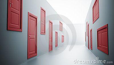 Halle mit vielen Türen