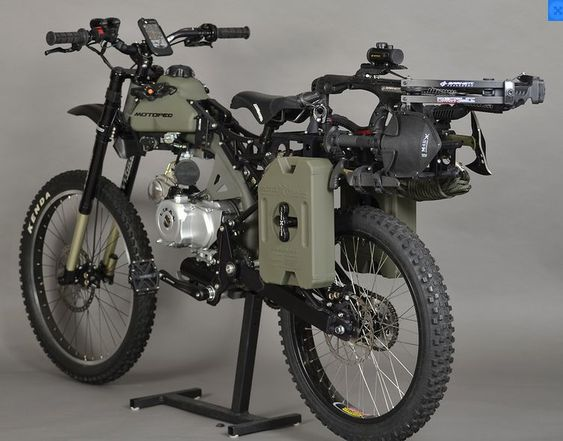 The motoped survival bike is fit for a savage apocalyps.