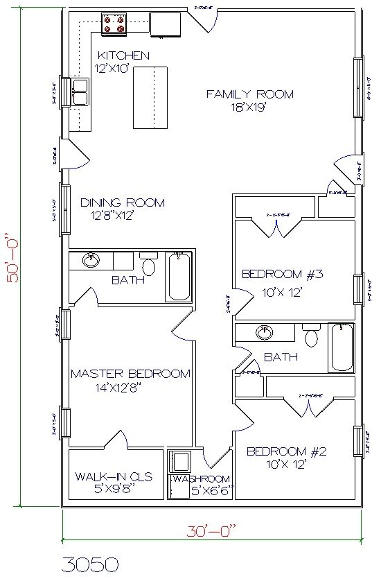 30 X 60 House Plans comour homesfloor planssr floor