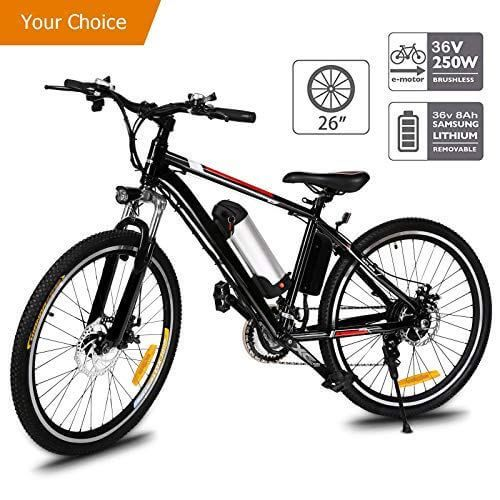 Aceshin 26 Electric Mountain Bike With Removable Large Capacity