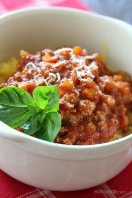 Spaghetti Squash with Meat Ragu
