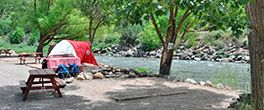 riverfront tent site at Glenwood springs resort $46