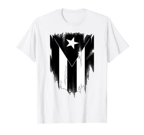 Black And White Puerto Rican Flag Shirt Boricua Pr T Shirt Boricua Puerto Rico Tee S In 2020 Flag Shirt Pr Flag T Shirts For Women