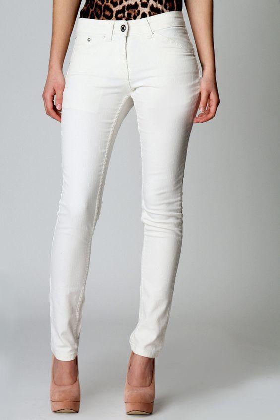 Coline Full Length Skinny Cotton Stretch Jeans £20    www.boohoo.com