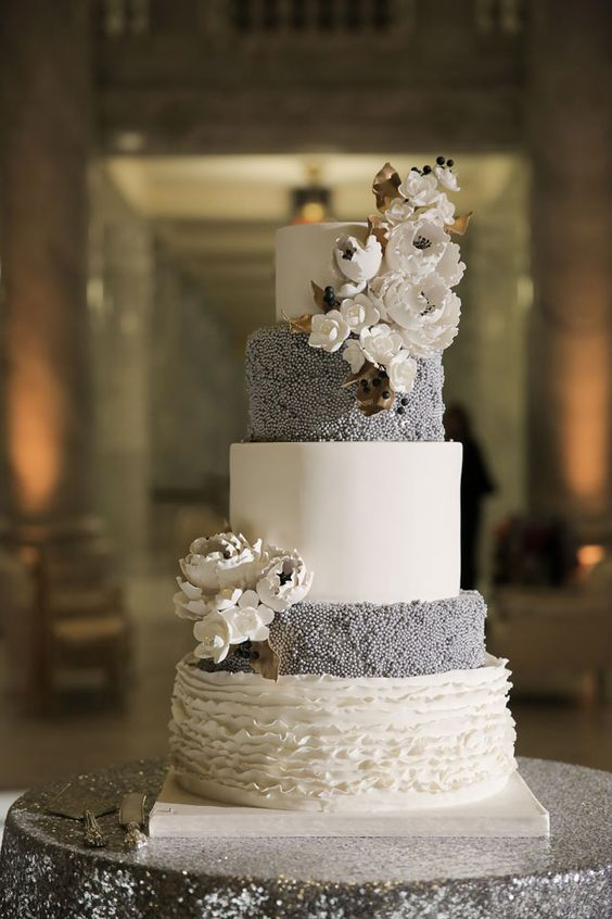 old hollywood metallic winter wedding utah white wedding cakes and wedding. Black Bedroom Furniture Sets. Home Design Ideas