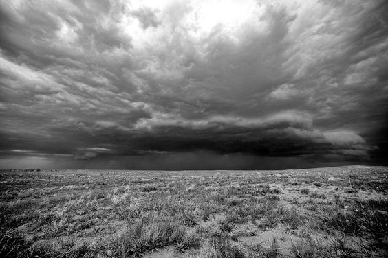 Thunderstorm in Cimarron National Grasslands, KS.