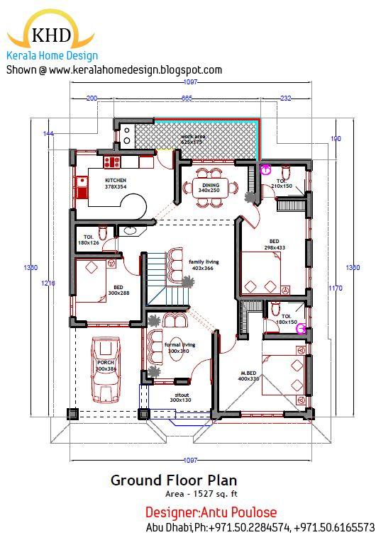 Kerala House Plan In 2020 Kerala House Design Small Floor Plans Kerala Houses