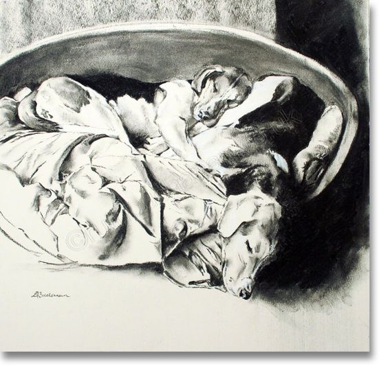 Never has a bed looked more comfortable! It wasn't even theirs ... http://www.atlasart.co.uk/original-paintings/squatters.html