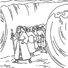 Moses Coloring Pages Free Printables Momjunction Sunday School Coloring Pages Crossing The Red Sea Coloring Pages