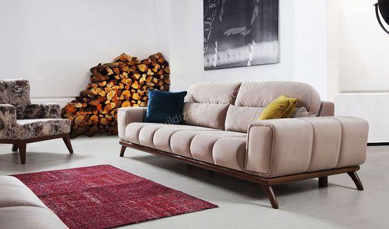 Rosso Kanepe #kanepe #yildizmobilya #ofis #modern #mobilya #design - das modulare ledersofa heart formenti