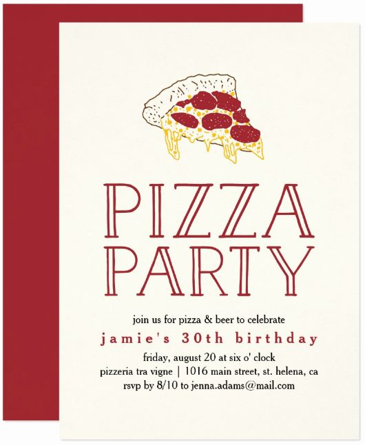 Luxury Pizza Party Invitations Template In 2020 Party Invite Template Pizza Party Invitations Pizza Party