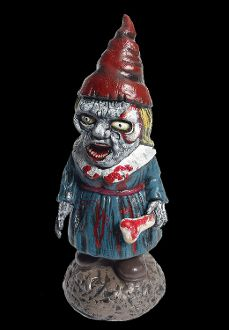 She's really Mad!!! Creepy Walking Dead Zombie Bloody HORROR GNOME-BIETTE GIRL Female Wife Funny Garden Yard Lawn Decor Scary Haunted House Cemetery Graveyard Gory Halloween Prop Decoration. You'd better watch out! Don't nap outdoors cuz she's coming to eat your brains! http://www.horror-hall.com/Bloody-ZOMBIE-HORROR-GNOME-GIRL-Garden-Yard-Lawn-Prop-Decoration-HH-FN-73333.htm