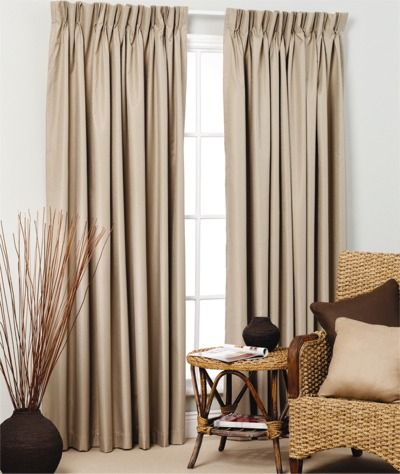 Broome pinch pleat curtains blockout window treatments for Pencil pleat curtains on track