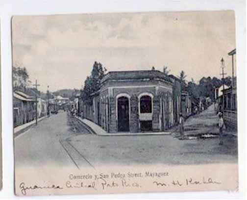 Calles Comercio y San Pedro.