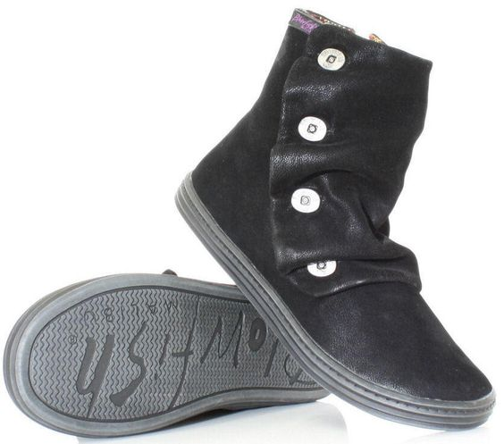 Blowfish Rabbit Black Fawn PU New Womens Cheap Ankle Boots Shoes