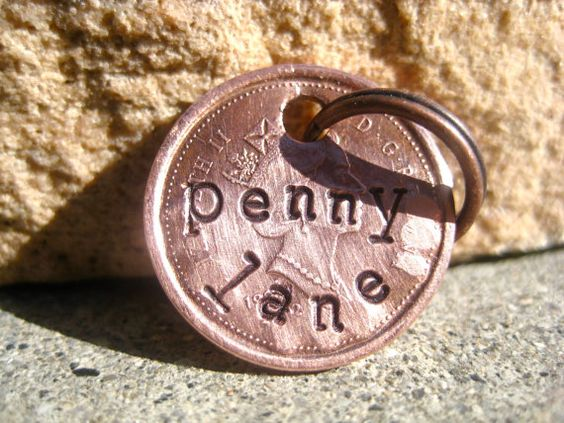 Canadian Lucky Penny LIMITED  Unique Handstamped Pet by MODPawed, $8.00