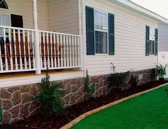 Mobile Home Skirting Grey Rock Sand Stone Much Better