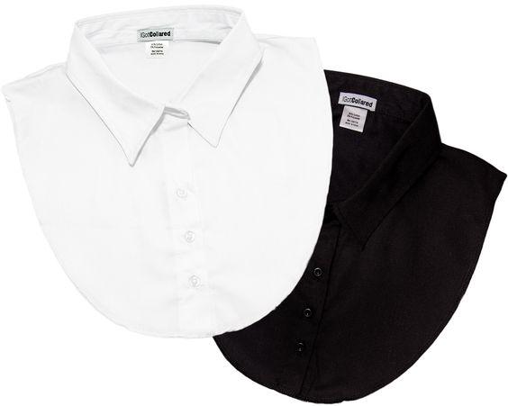 Classic IGotCollared black and white dickey collars. A closet staple.