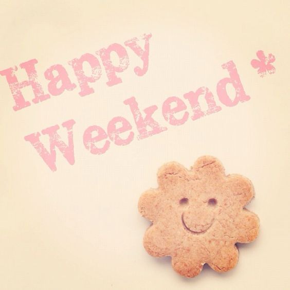 Happy Weekend* smiling cookies