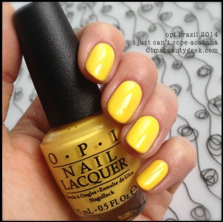 I Just Cant Cope-Acabana.  OPI Brazil Collection Spring/Summer 2014. On Counters Feb. 5th