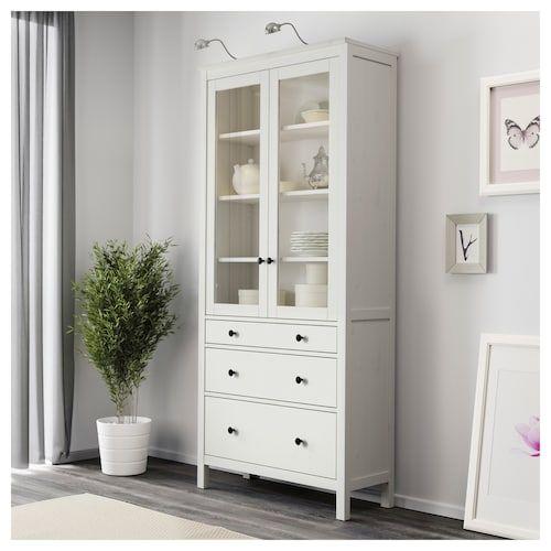 Hemnes 8 Drawer Dresser White 63x37 3 4 Glass Cabinet Doors Ikea Hemnes Ikea