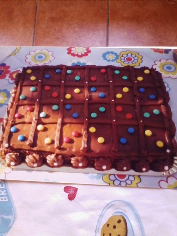 Tarta galletas y chocolate