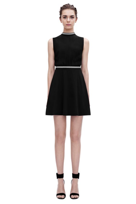 Victoria Beckham | #PreSS15 VVB | Sleeveless Rib Trim Dress